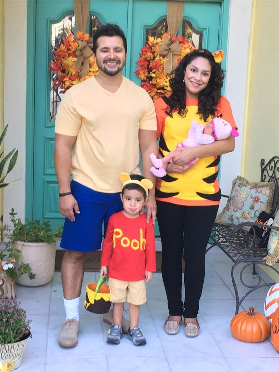 Winnie The Pooh Family Costumes.
