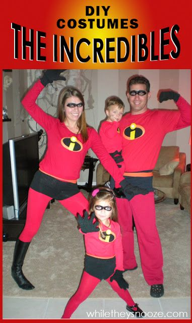 The Incredibles Costumes For Family.