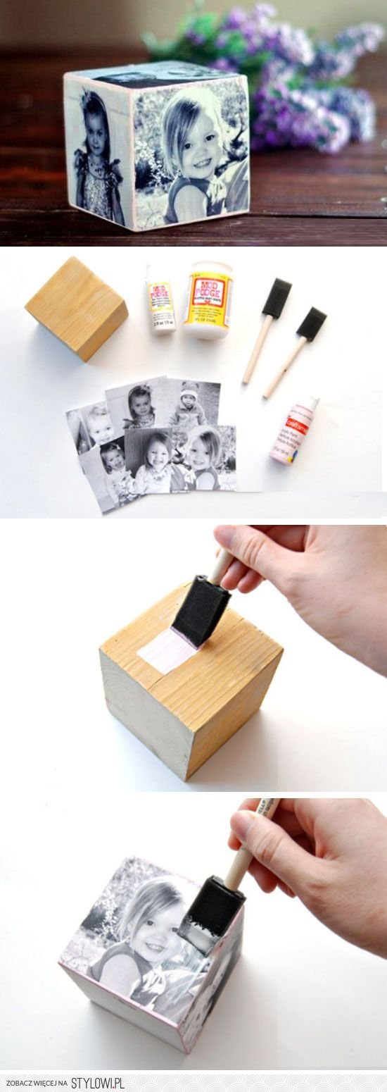 DIY Mother's Day Photo Cube.