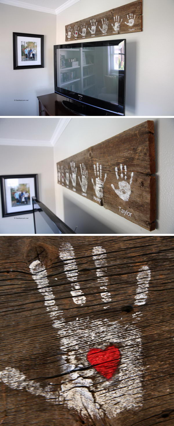DIY Handprint Wall Sign.