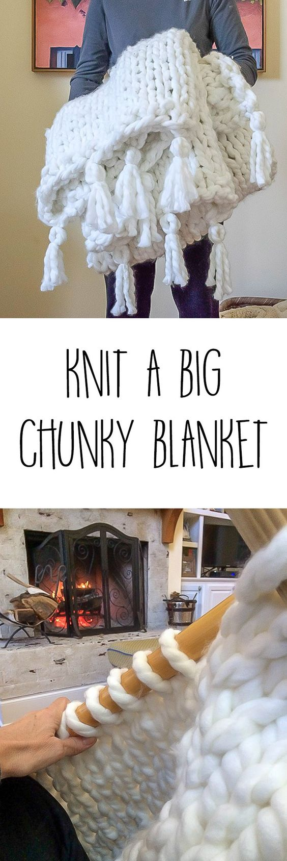 Easy Chunky Knit Blanket.