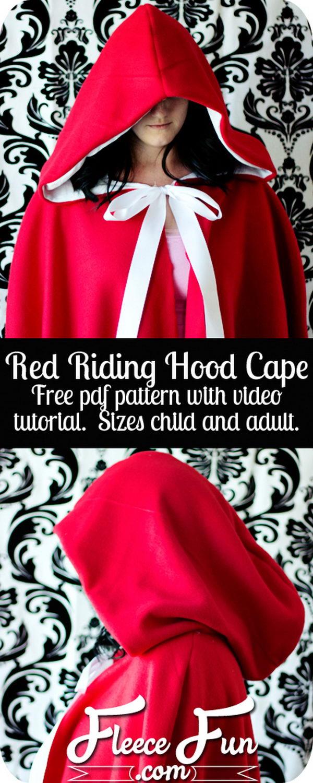 Little Red Riding Hood Costume DIY Tutorial.