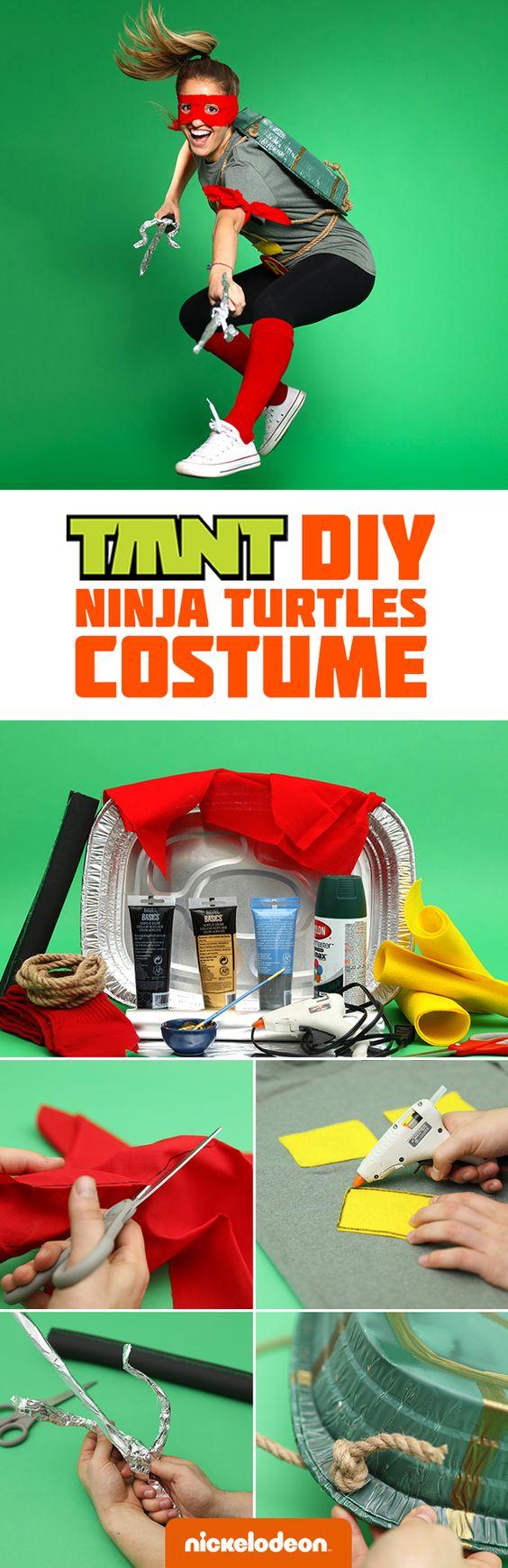 DIY Ninja Turtle Costume.