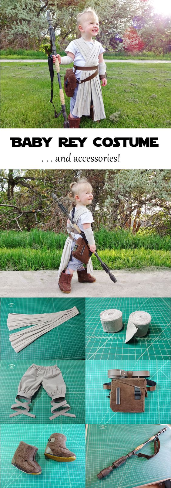 DIY Star Wars Rey Costume.