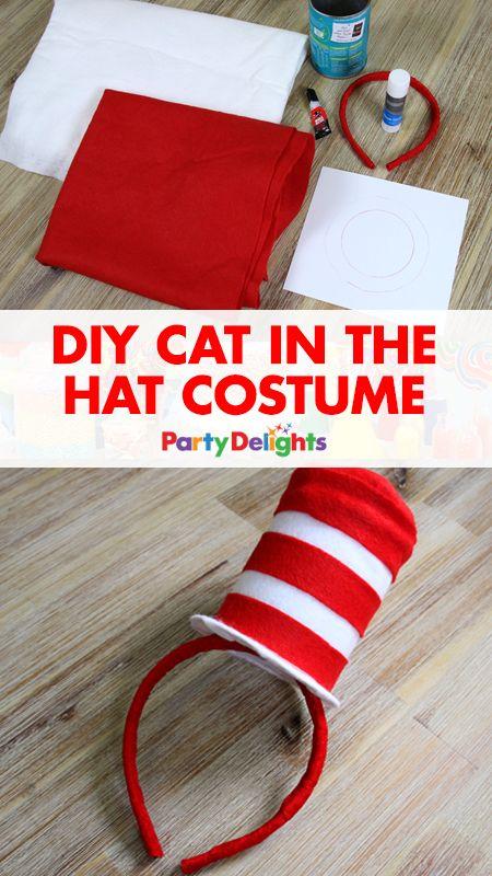DIY Cat In The Hat Costume.
