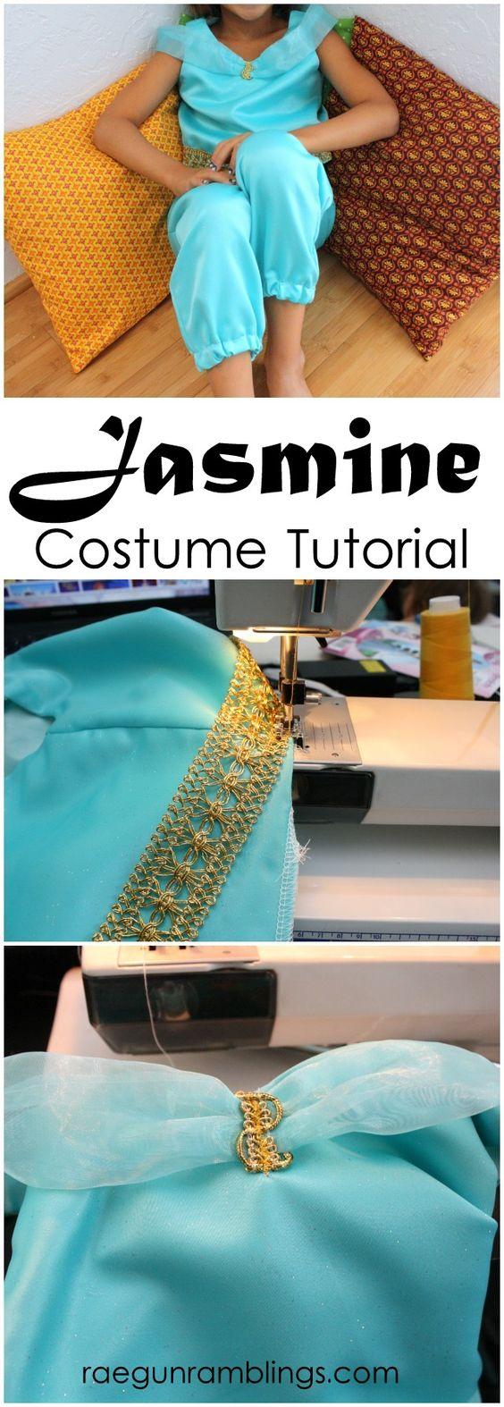 DIY Princess Jasmine Costume.
