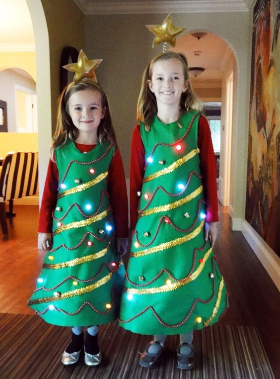 DIY Christmas Tree Costume.