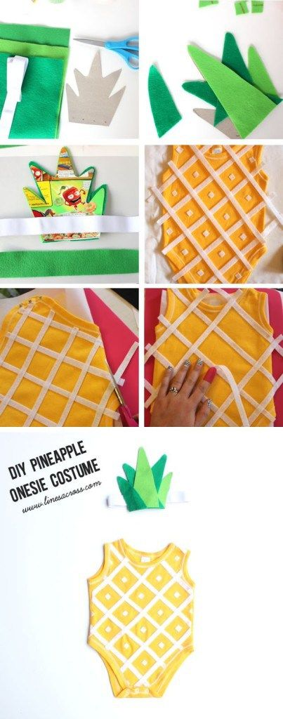 DIY Pineapple Costume for Baby.