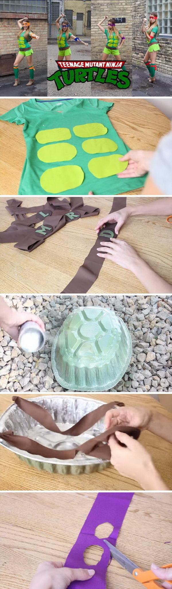 DIY Teenage Mutant Ninja Turtle Costume.