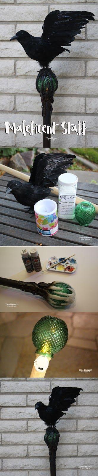 DIY Maleficent Costume Staff.