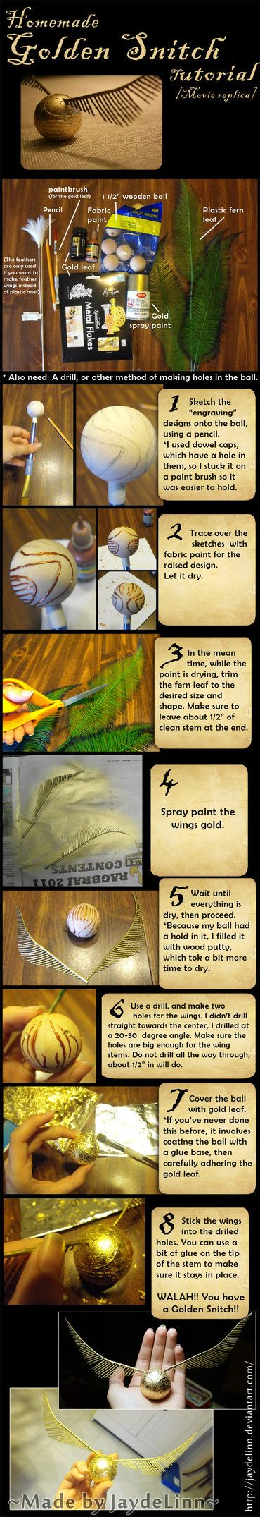Homemade Golden Snitch Tutorial.