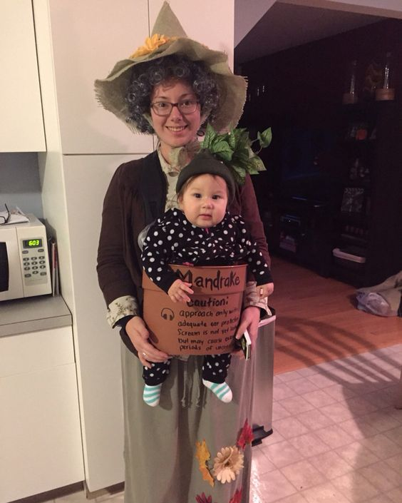 Professor Sprout and Baby Mandrake.