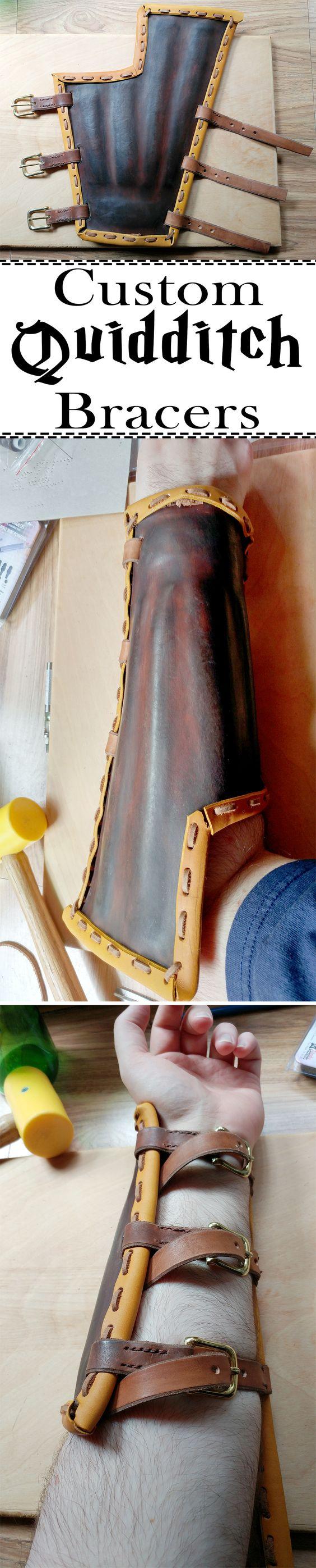 DIY Quidditch Bracers.
