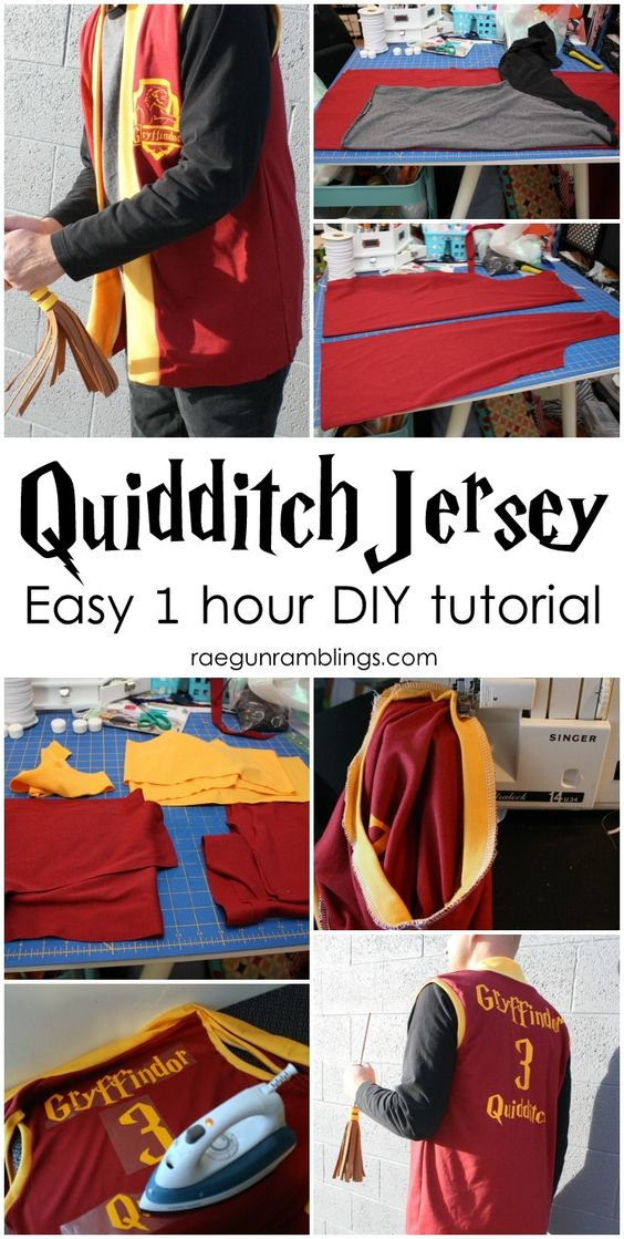 Harry Potter Quidditch Jersey Tutorial.