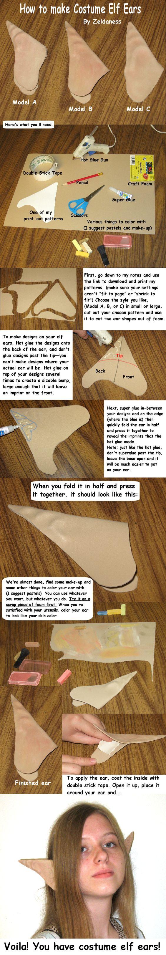 How to Make Costume Elf Ears.