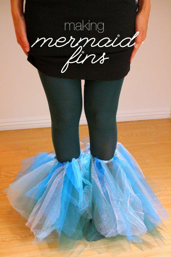DIY Mermaid Fins.