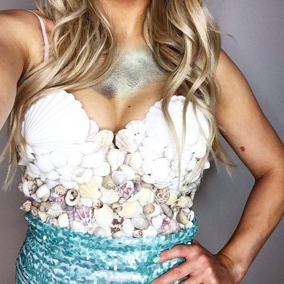 Inexpensive DIY Mermaid Costume.
