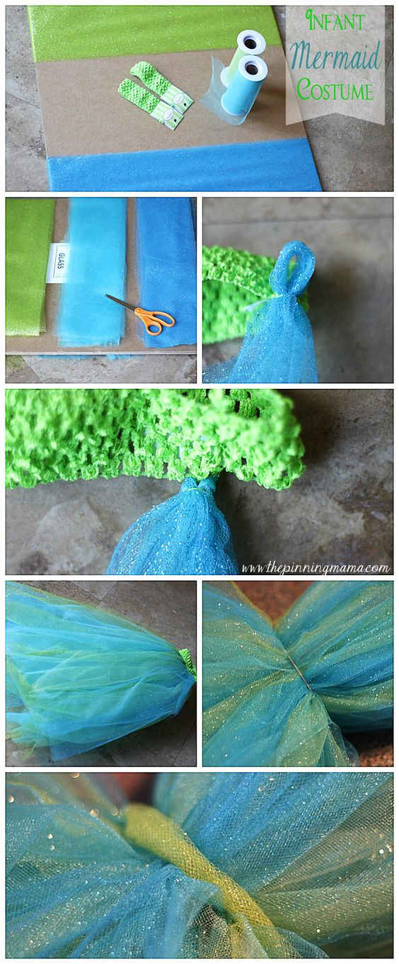 DIY Infant Mermaid Halloween Costume.