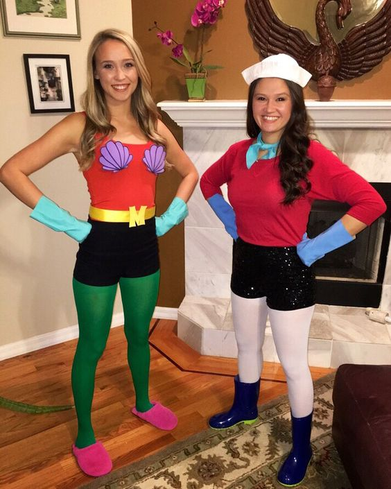 Mermaid Man and Barnacle Boy Costume.
