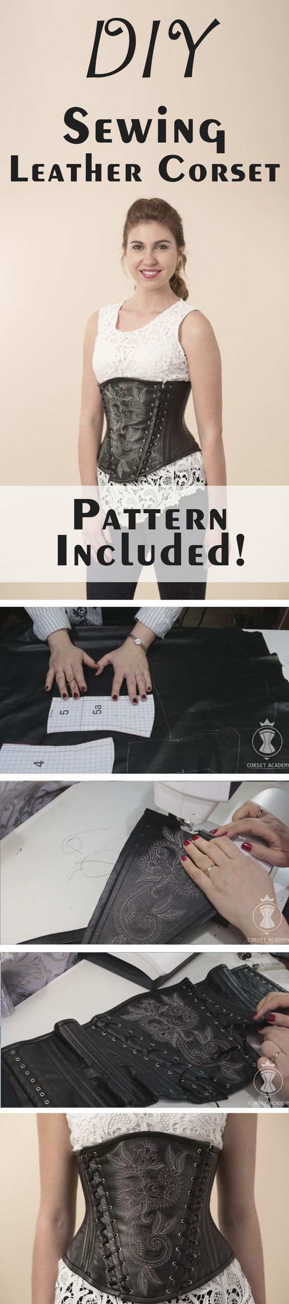 DIY Sewing Leather Corset.