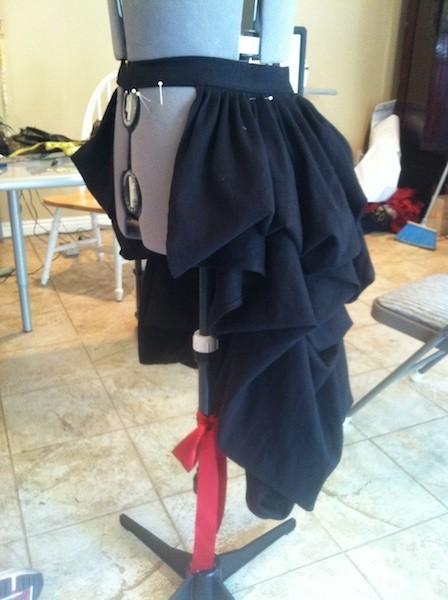 DIY Steampunk Bustle Skirt.