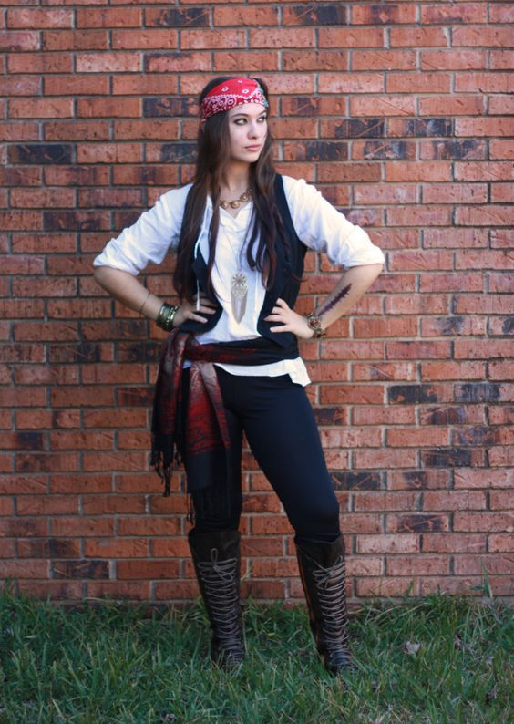 Halloween Pirate Costume for Girl.