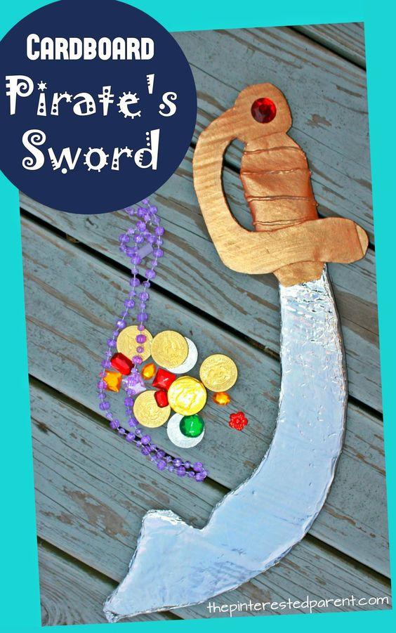 Cardboard Pirate Sword.