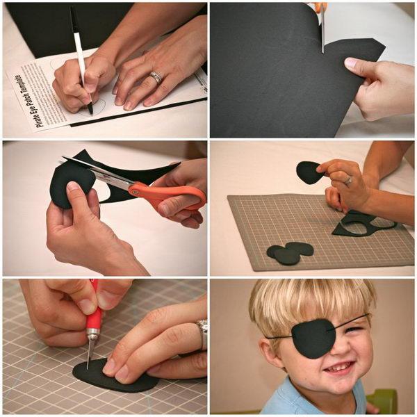 DIY Pirate Eye Patch.
