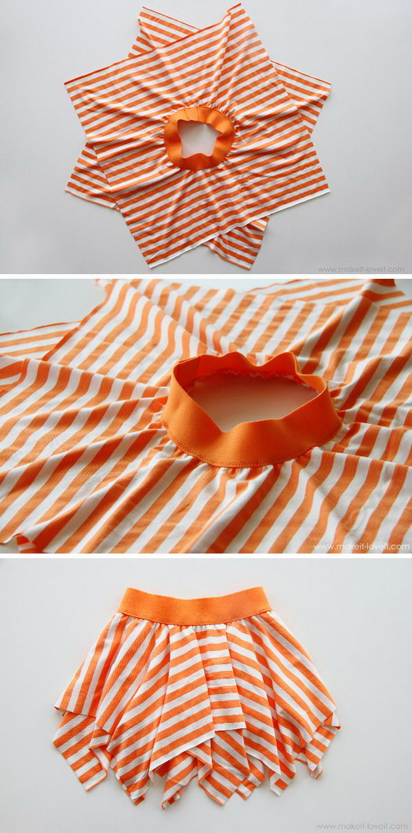 Double-Layer Square Circle Skirt for Pirate Costume.