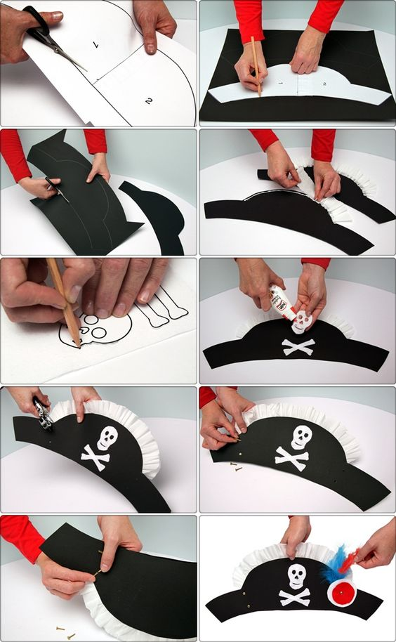 DIY Pirate Costume Hat.