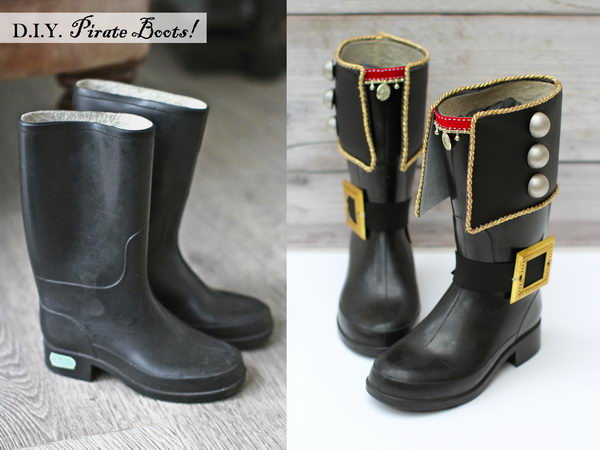 DIY Pirate Boots.