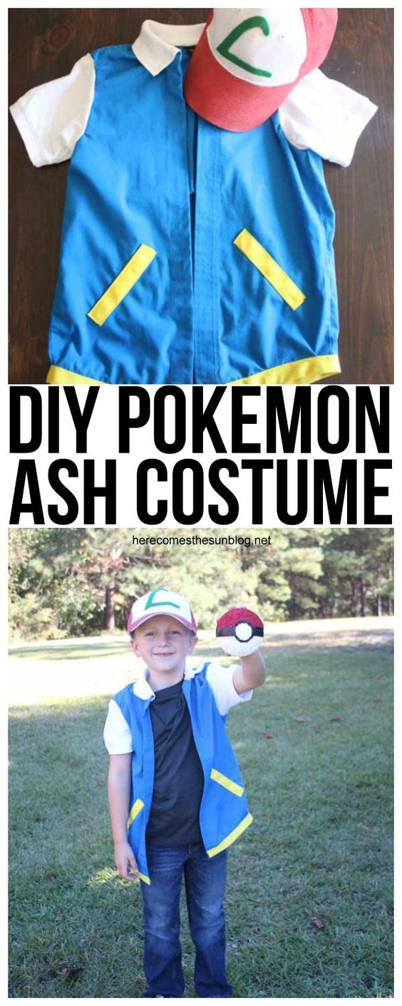 DIY Pokemon Ash Costume.