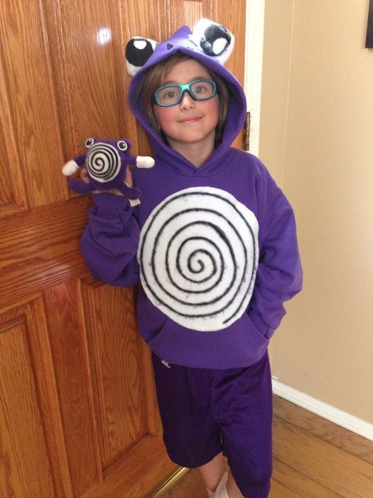 Easy DIY Polywhirl Pokemon Costume for Halloween.