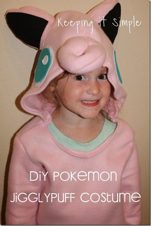 DIY Pokemon Jigglypuff Costume.