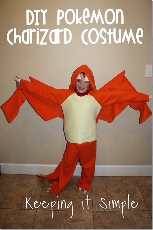 DIY Pokemon Charizard Dragon Costume.