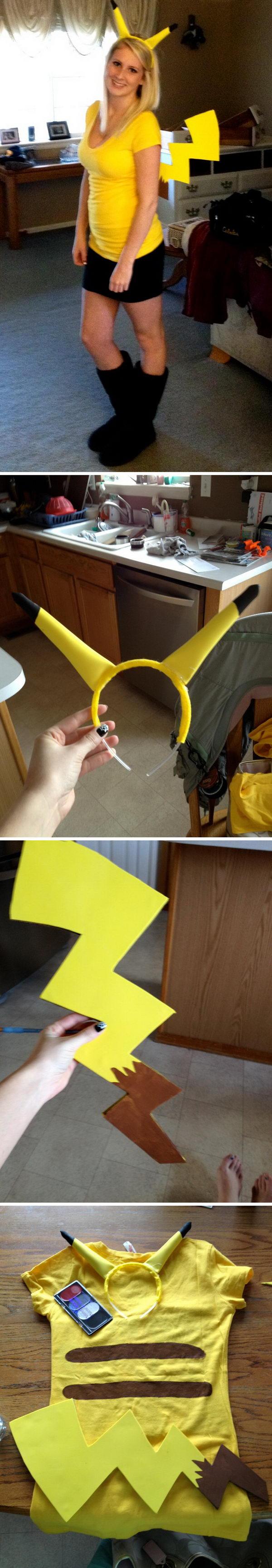 Pikachu Halloween Costume.