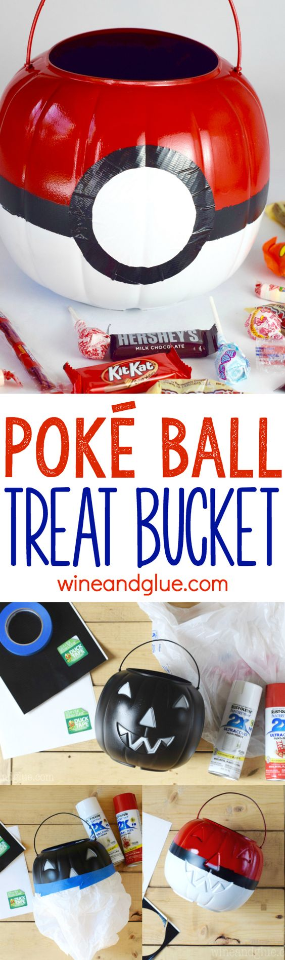 Poke Ball Treat Bucket for Pokemon Costume.