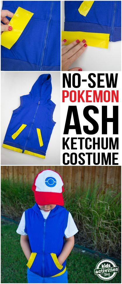 No-Sew Pokemon Ash Costume.