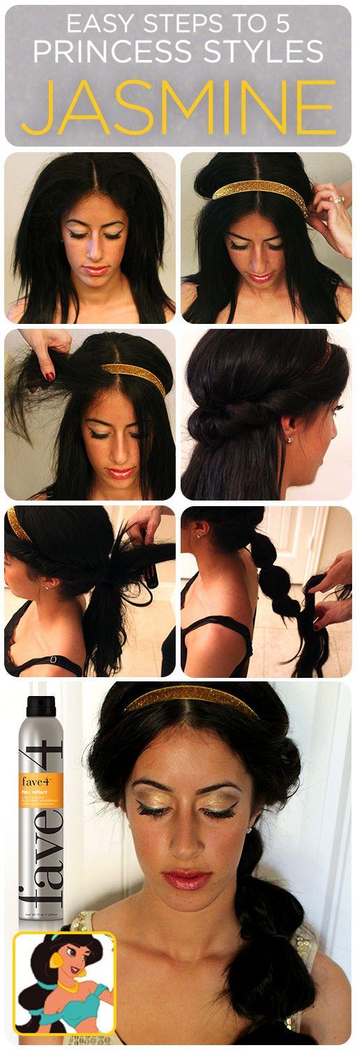 Princess Jasmine Hairstyle.