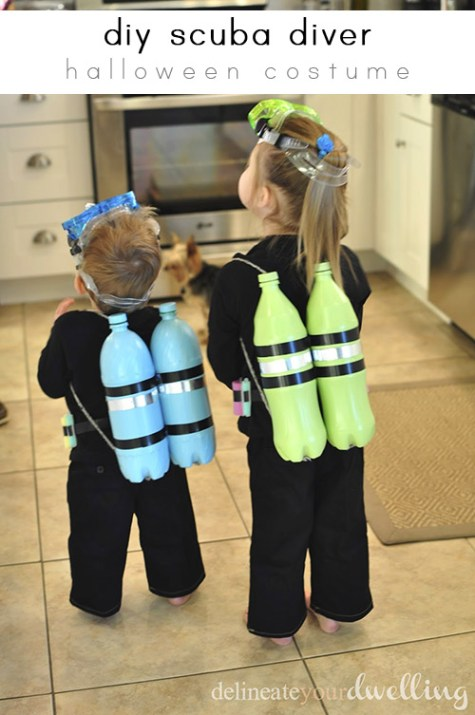 DIY Scuba Diver Halloween Costume.