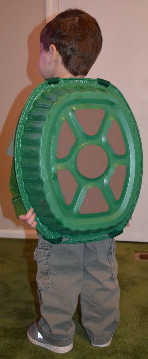 DIY Turtle Shell Halloween Costume.