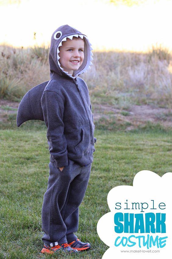 Simple Shark Costume.