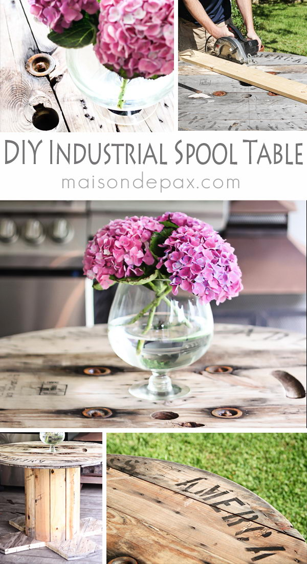 DIY Industrial Spool Table.