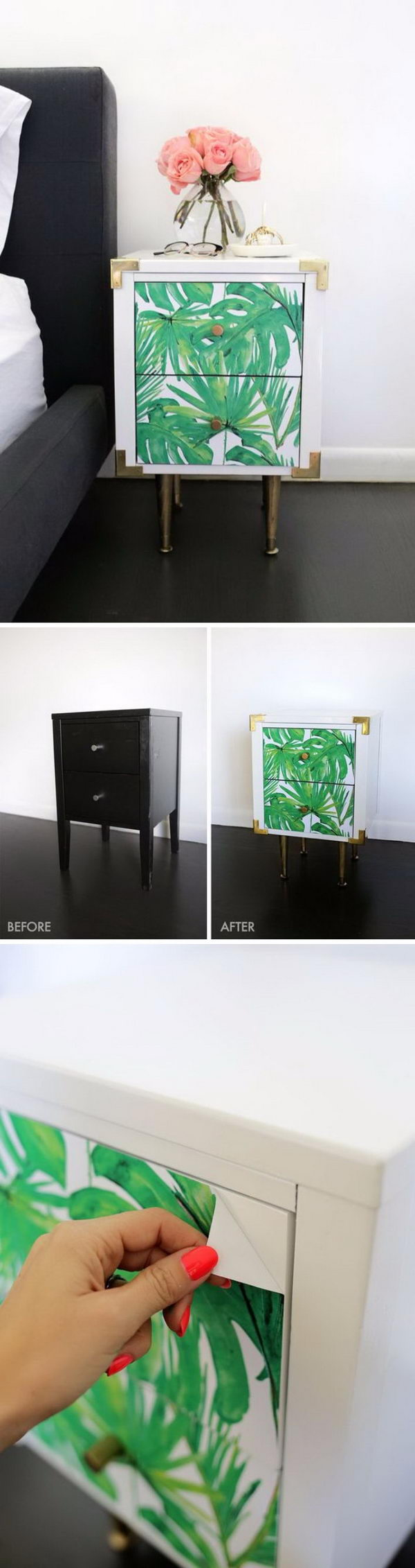 DIY Palm Leaf Side Table.