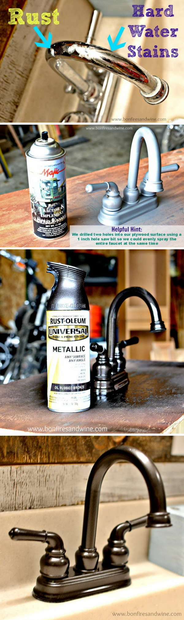 Modernize Outdated Faucets with Spray Paint.