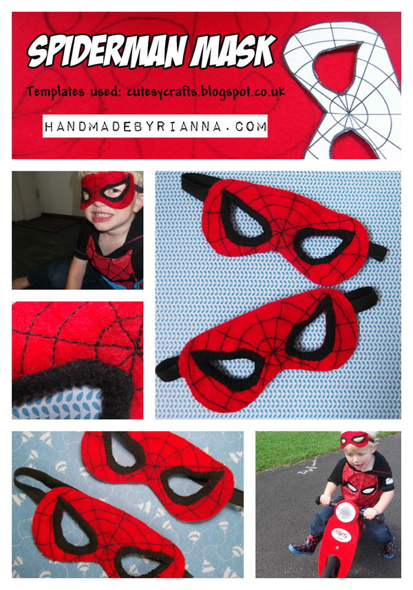 Spiderman Costume Mask.