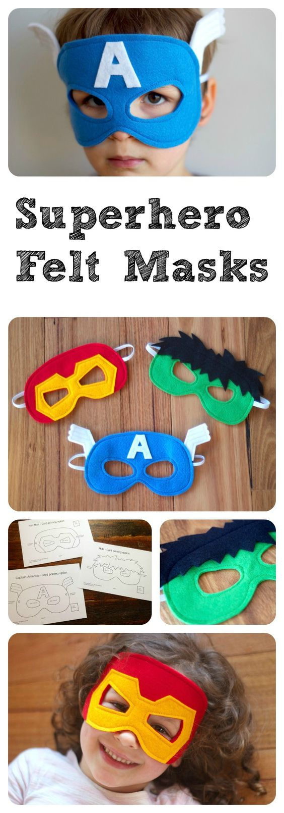Superhero Mask PDF Patterns.