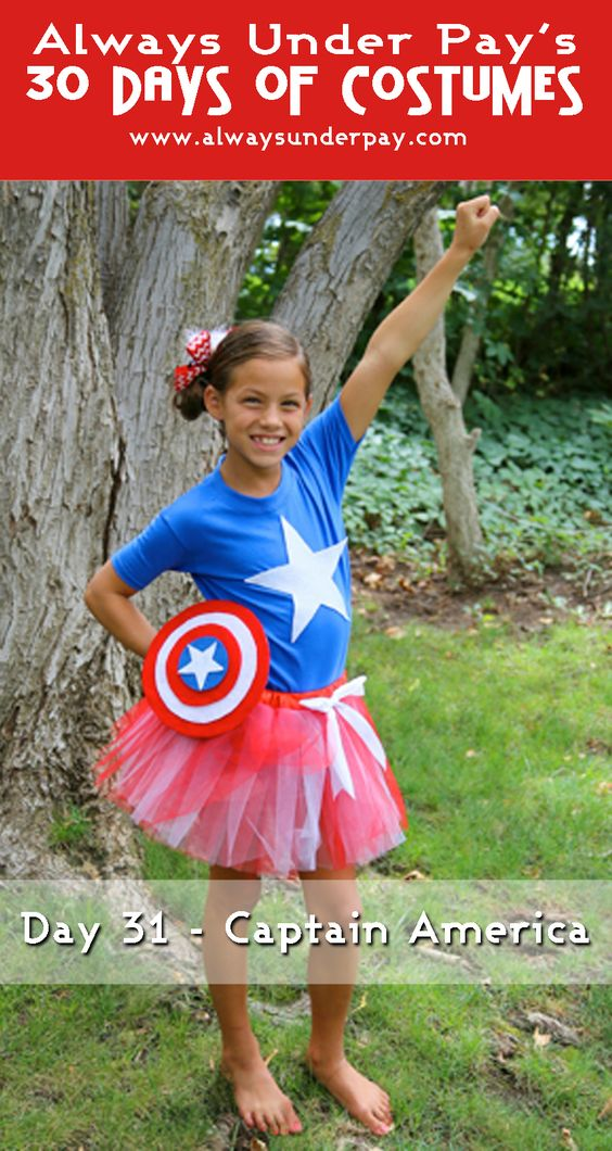 Captain America DIY Halloween Costume.