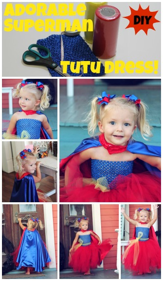 Superman Tutu Dress Tutorial.