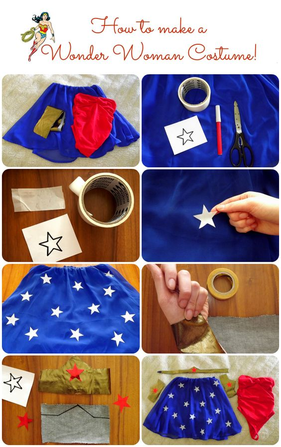 Wonder Woman Costume: Dress + Make Up.